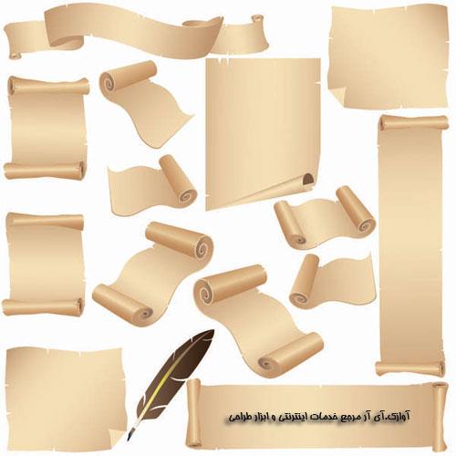 دانلود وکتور کاغذ ها و نامه های قدیمی