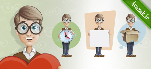 Free_Geek_Vector_Character_Set11