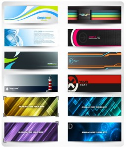 Abstract Banners For Web Header