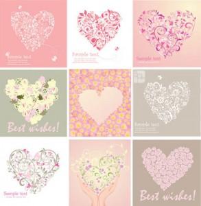 Stylish-Love-Cards-Vector