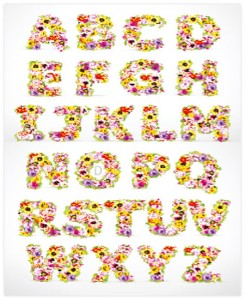 Vector - Flowers Font Alphabet