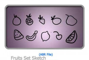 Bush Fruits Set Sketch