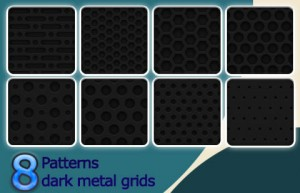 dark metal grids