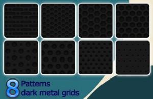 dark metal grids