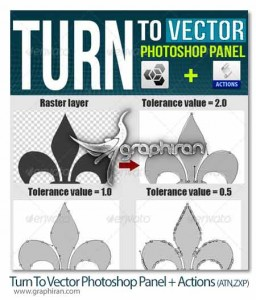 Turn-To-Vector-Photoshop-Panel-Actions